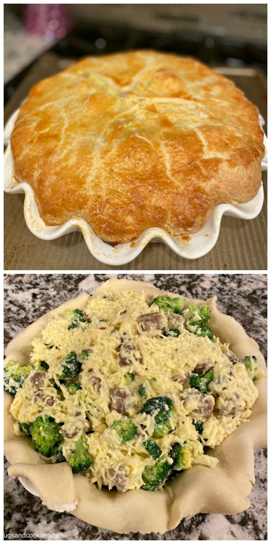 Broccoli Sausage Cheese Pie