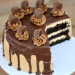 Chocolate Peanut Butter Drip Cake