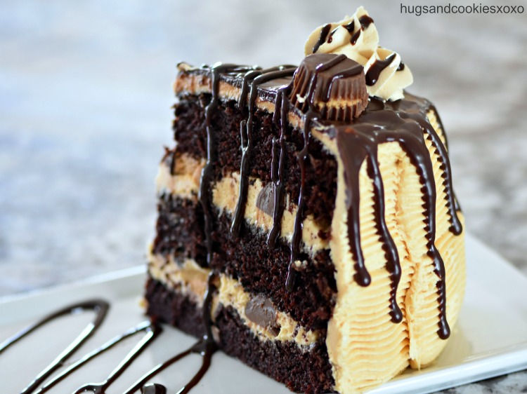 Peanut Butter Chocolate Drip Cake