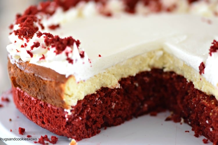 Red Velvet Layered Cheesecake