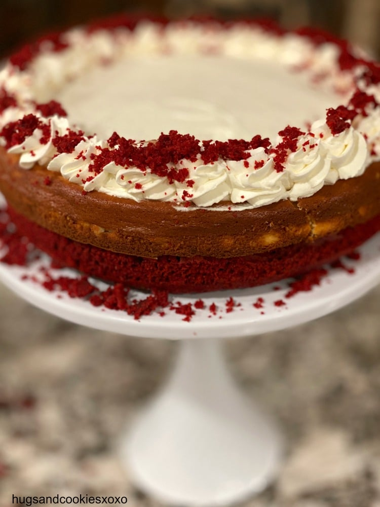 Red Velvet Layered Cheesecake