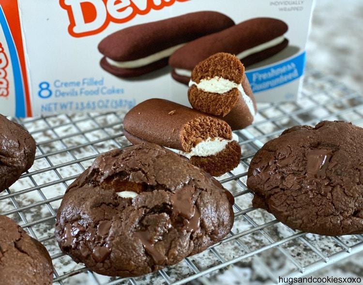 Devil Dog Stuffed Cookies