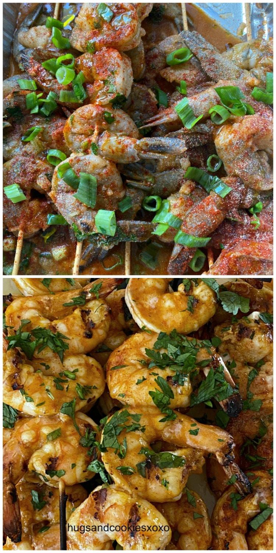 Bourbon Shrimp with scallions