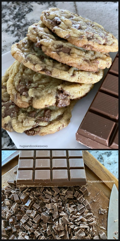 Milk Chocolate Chunk Cookies warm