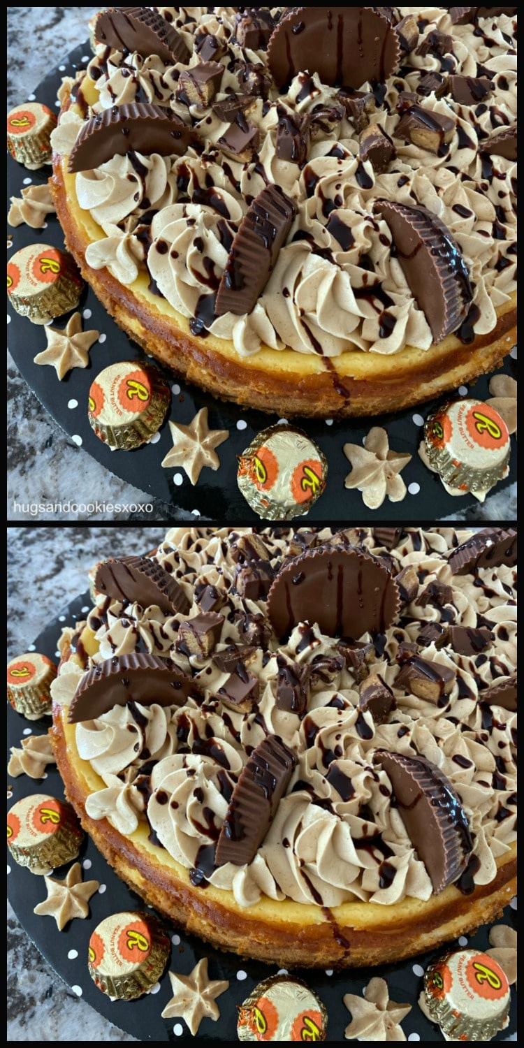 Reese's Cheesecake with chocolate