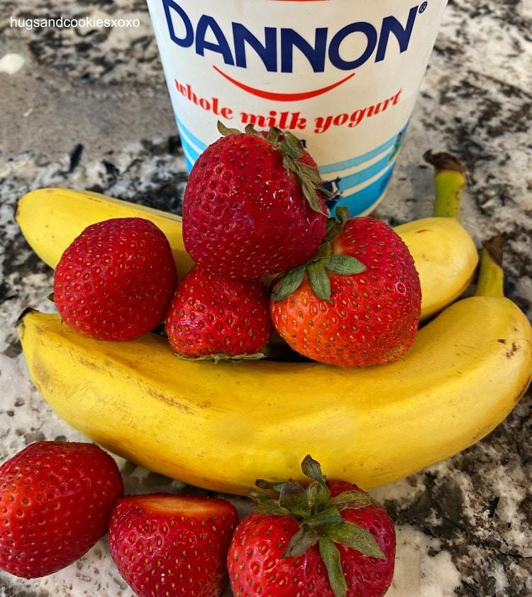 homemade Strawberry Banana Dog Treats