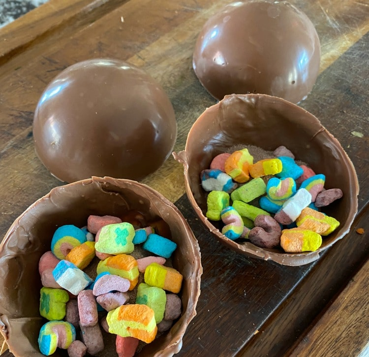 Lucky Charms Hot Chocolate Bombs