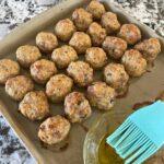 Oven Baked Chicken Meatballs