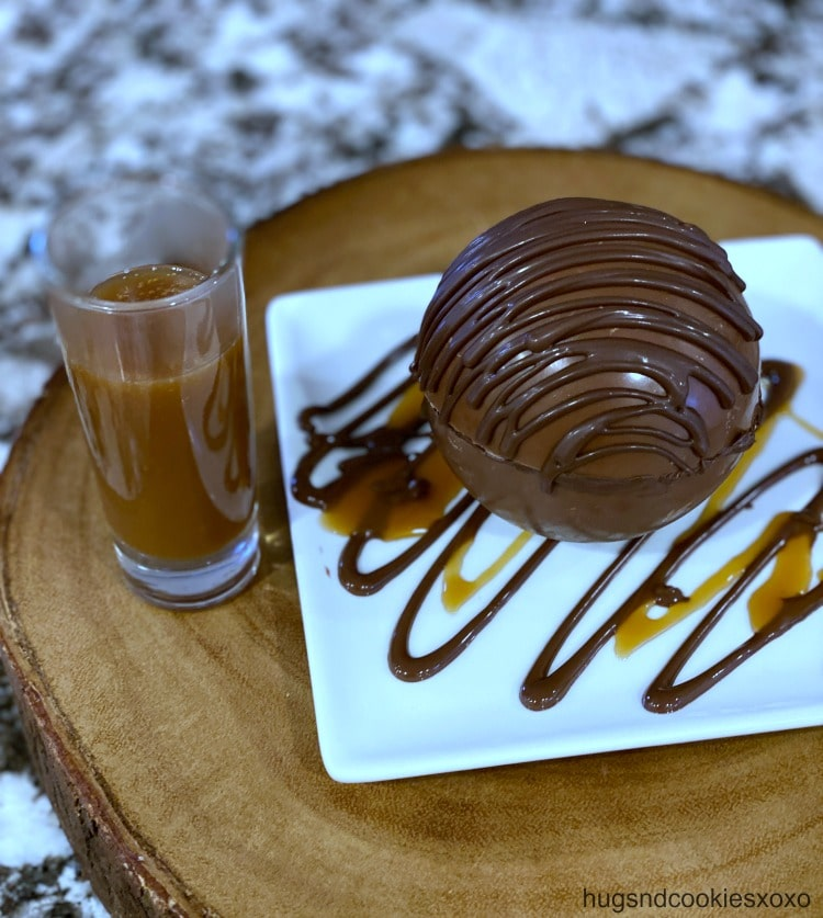 Chocolate Mousse Bombs With Hot Caramel