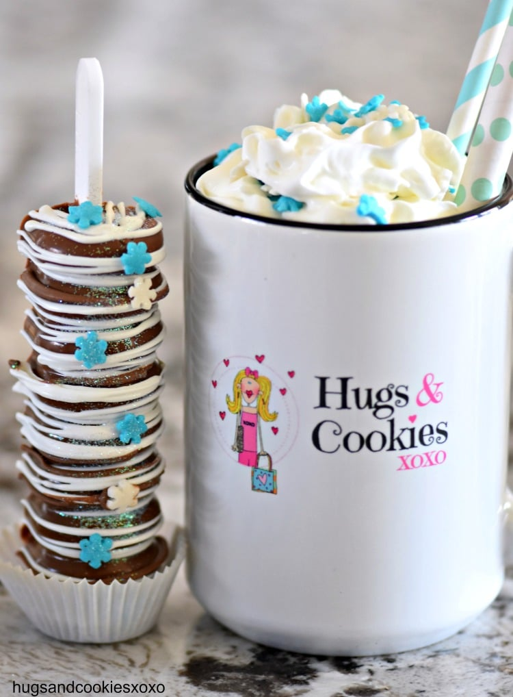 Hot Chocolate Bombs With Edible Sticks