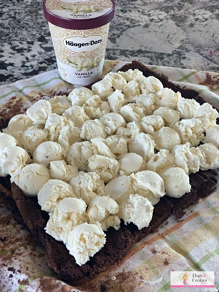 Hot Fudge Ice Cream Cake Roll