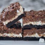 Chocolate Peanut Butter Marshmallow Crunch Brownies
