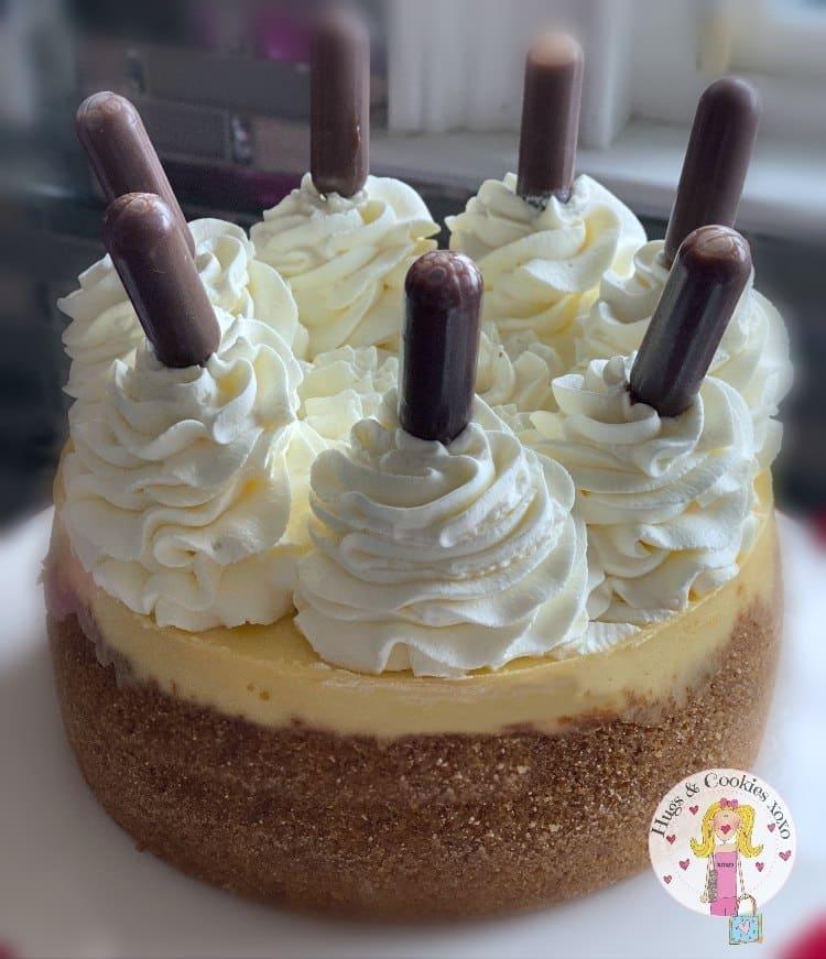 Mini Cheesecake with Hot Fudge Pipettes