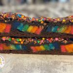 Rainbow Cake Pop Brownies