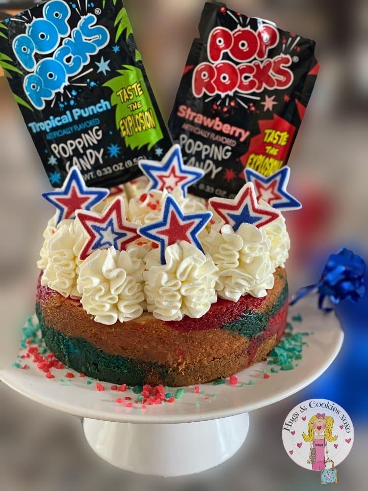 Pop Rock Tie Dye Cheesecake