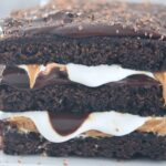Peanut Butter and Marshmallow Brownie Lasagna