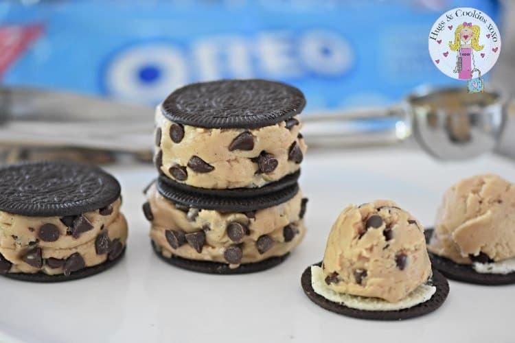 Cookie Dough Oreo Sandwiches