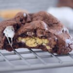 Chocolate S'mores Stuffed Cookies