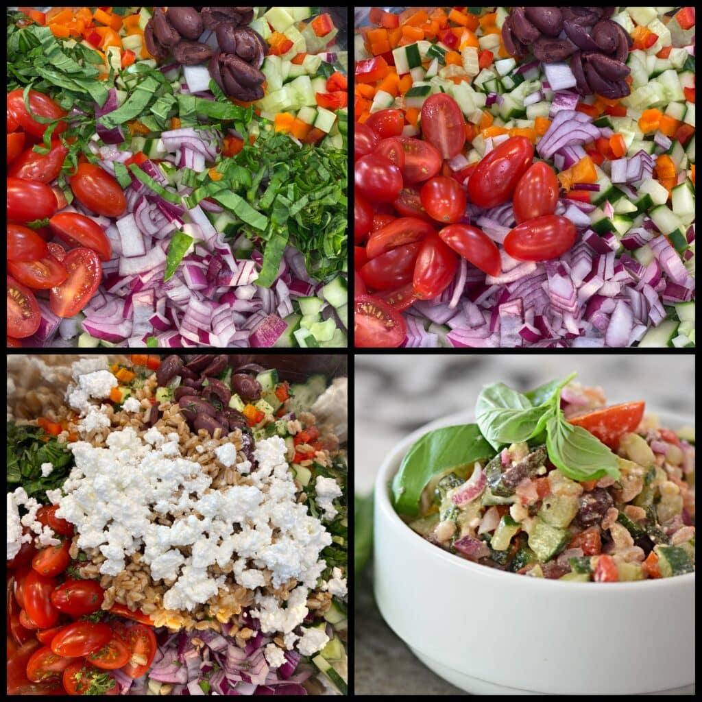 Chopped Greek Veggie Salad