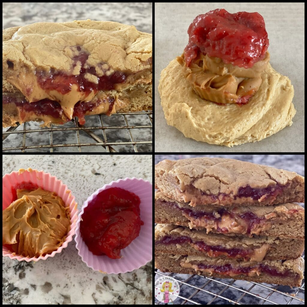 Peanut Butter and Jelly Stuffed Cookies